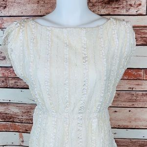 Style&Company~ XS Ruffle, Crocheted Dress